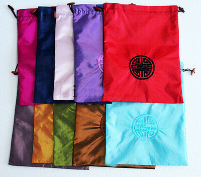 Wholesal10pc Chinese Handmade Embroiderd Vintage Silk Cloth& Shoe Bags Pouch