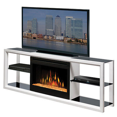 Dimplex Novara White Electric Fireplace Media Console