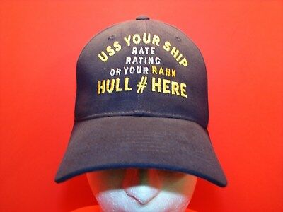 PIX ARE SAMPLES ONLY USS GREEN BAY JOB RATE INSIGNIA EMB CAP HAT