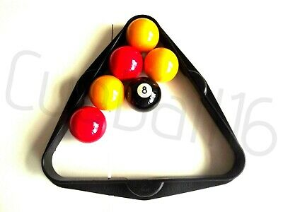 "Super League POOL TABLES TRIANGLE FOR 2"" Uk Standard Size English POOL BALLS"