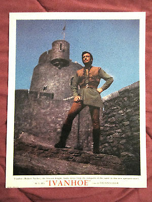 "Ivanhoe (1952) Great Portrait Robert Taylor As ""ivanhoe"" Deluxe Rare  Lobby Card"