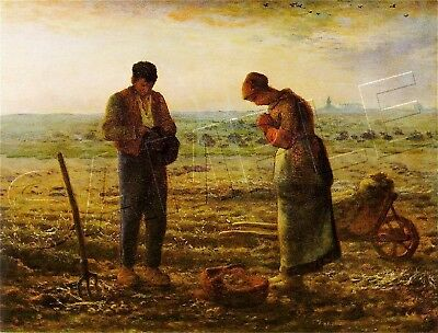 The ANGELUS - Millet FARMERS Praying CANVAS Art - LARGE