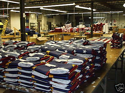 5X8 Us Made American Flag Solarmax Nylon Sewn & Embroidered Reinforced Corners