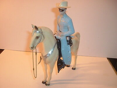 1950's Lone Ranger Champ Style Hartland Statue & Horse with Siver Tact