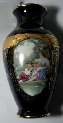 Limoges Castel Porcelaine Play For Me-Romantic Vase Lge