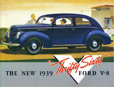 "1939 Ford V-8 ""sixty-60Hp  Passenger Car Sales Brochure"