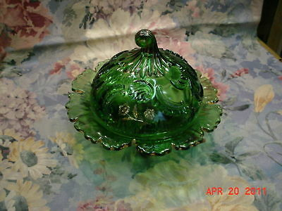 "EAPG Butter Dish & Lid - Northwood ""Louis XV"" c:1899"