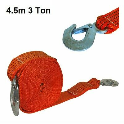 """14/' Heavy Duty Tow Rope 2 Tonne 16mm 5//8/""""/"""" Automotive Towing Tool X 4.2m x"""