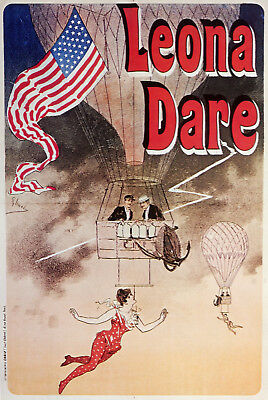3521.Circus Vintage POSTER.Powerful Graphic Design.Hot Air Balloon Trapeze.Art.