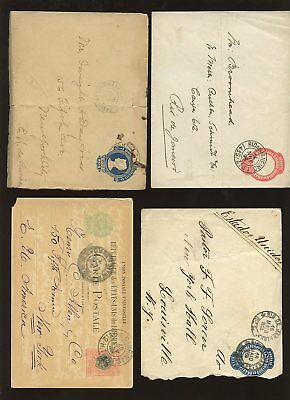 BRAZIL 1895-1920 STATIONERY COVERS to USA + RIO 4 ITEMS