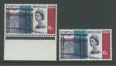 GB ERROR 1964 FORTH ROAD BRIDGE 6d...BLUE COLOUR SHIFT