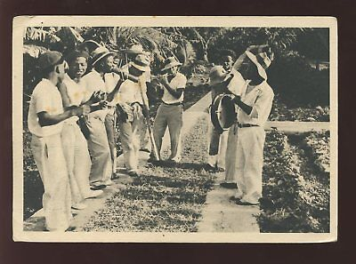 Guadeloupe 1950 Ppc Doctor Printed...musicians