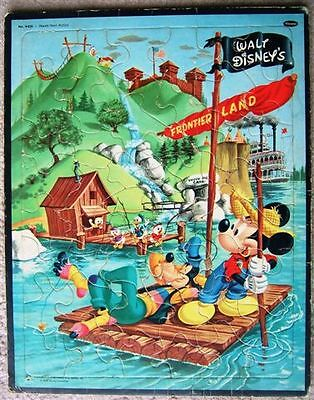 Vintage WALT DISNEY FRONTIER LAND Frame Tray Puzzle 60s