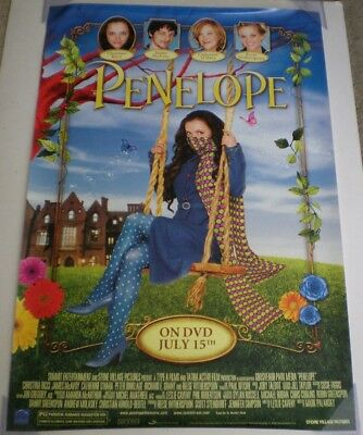 PENELOPE DVD MOVIE POSTER 1 Sided ORIGINAL ROLLED 27x40