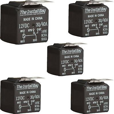 The Install Bay by Metra RL3040 Economy 12 Volt 30/40 Amp Relay (5/Pack) 12V