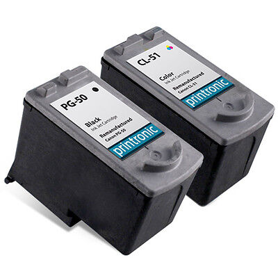 2pk CANON PG-50 + CL-51 ip6210 ip2500 Inkjet mp160 cl50