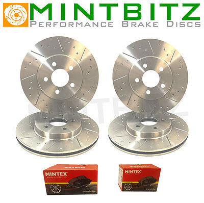 BMW 3 E90 335d 09/06- Front And Rear Brake Discs And Pads Dimpled And Grooved