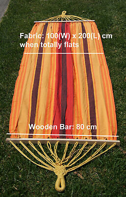 New single cotton canvas Hammock in stripe w wooden bar