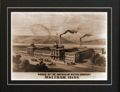American Watch Co Waltham Mass Old 1860's print repo