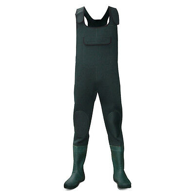 Dirt Boot® Green Neoprene Chest Waders 100% Waterproof Coarse Fishing Muck Wader