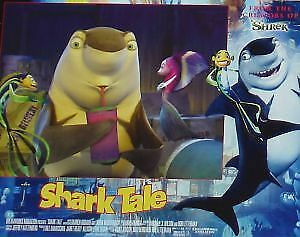 SHARK TALE - 11x14 US Lobby Cards Set Animation Jolie