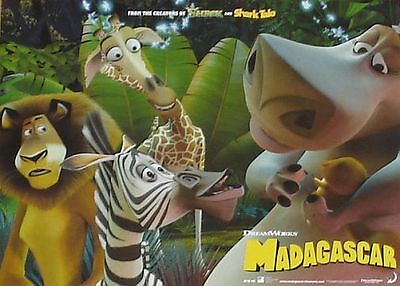 MADAGASCAR - 11x14 US Lobby Cards Set of 8 - Dreamworks - ANIMATION