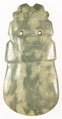 Gorgeous Pre-Columbian Jade Avian Axe God - Costa Rica