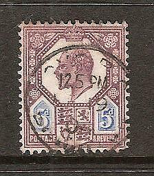 GREAT BRITAIN # 134 Used KING EDWARD VII