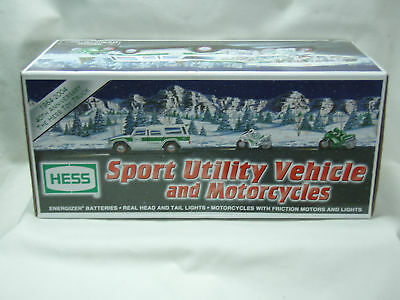 Hess 2004 Sport Utility Vehicle Motorcycles New in Box!