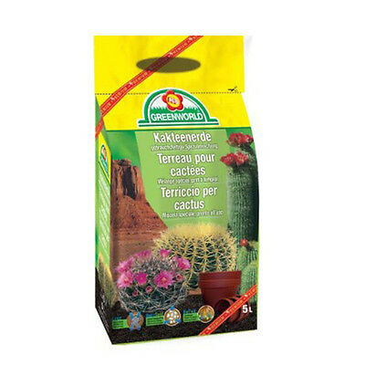 Sac de Terreau Cactus & Bonsaïs 5L Premium GreenWorld