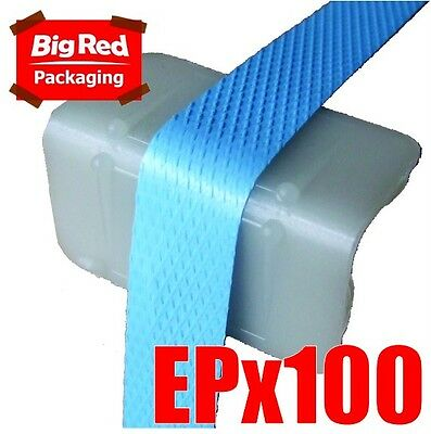 100 x Plastic Edge Protectors for Strapping 45x25x25mm