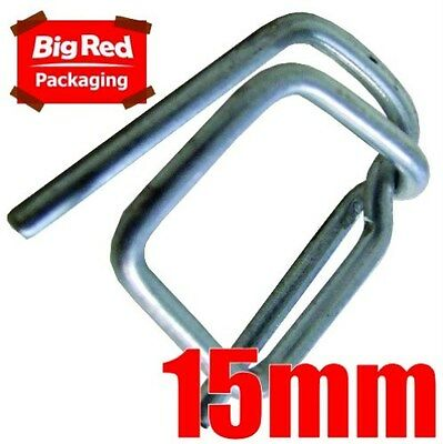 250 x 15mm Wire Buckles for Poly Strapping Strap Metal