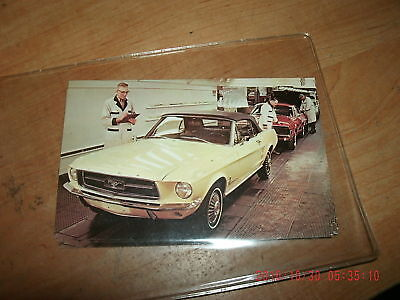 1967 Ford Mustang Cougar Dearborn Plant Promo Postcard