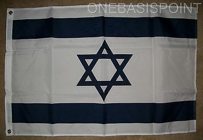 2'x3' Israel Flag Jewish Hebrew Star of David Zionist Banner Indoor Outdoor 2X3