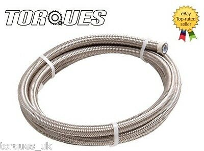 "AN -4 (4.8mm 3/16"") Stainless Steel Braided Teflon PTFE Hose 3m"