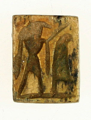 Awesome Faience Seal / Stamp - Horus - New Kingdom