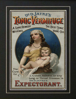 1880's Worm Tonic Quack Patent Medicine Antique Ad Old