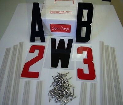 """New Readerboard 8"""" Flexible Letters & 10 Sign Track Kit"""