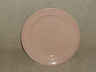 """T.S.& T. LuRay Pastel 6 3/8"""" Bread Plate Pink"""