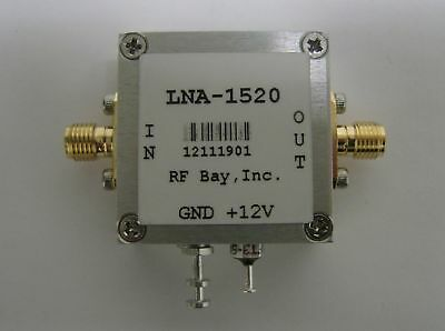 20-1500MHz 20dB Gain Low Noise Amplifier, LNA-1520, SMA