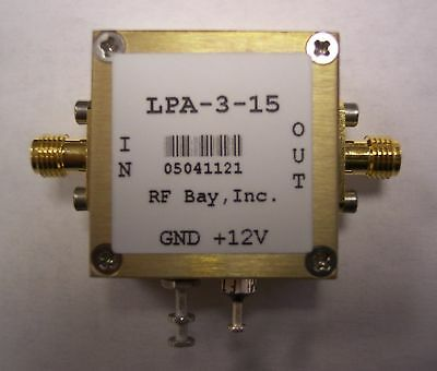 10-3000MHz 18dB Gain RF Amplifier, LPA-3-15, New, SMA