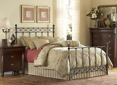Argyle Fashion Bed with Frame, Copper Chrome Finish