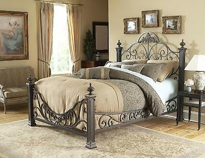 Baroque Fashion Bed, Gilded Slate Finish