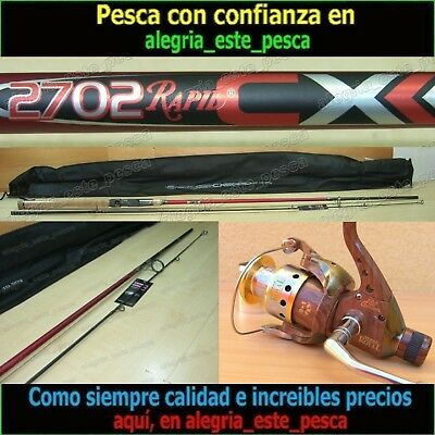 EQUIPO PESCA SPINNING - RAPID CX 2.70mt + ROYAL 400R