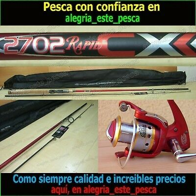 EQUIPO PESCA SPINNING - RAPID CX 2.70mt + DEVIL II 60F