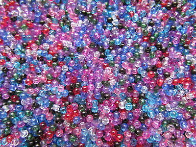 800+ 4mm Round Acrylic Tiny Beads Multi-Colours MIX New 4mm spacers beads New