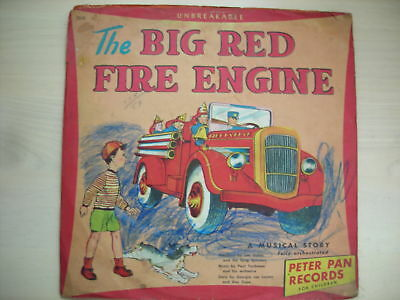 """The BIG RED FIRE ENGINE Peter Pan Records 10"""" 78 RPM"""