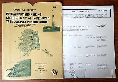 Maps of the Proposed Trans-Alaska Pipeline Route Phillip Smith Mountain 1971 AK
