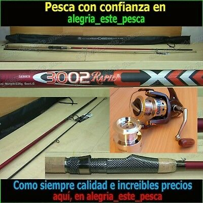 EQUIPO PESCA SPINNING - RAPID CX 3.00mt + QUEEN 600