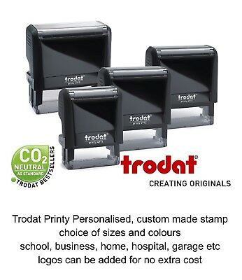 Personalised Name Address Stamp Self Inking Rubber School Doctor Nurse Garage
